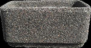 Вазон «Атлант» серый гранит