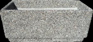Вазон «Фрегат» серый гранит