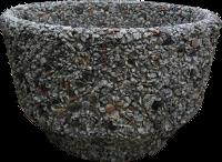 Вазон «Фиеста» серый гранит