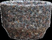 Вазон «Фиеста» коричневый гранит