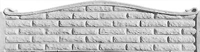 Секция еврозабора глухая №25 «Фагот дуга»1