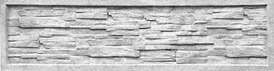 Секция еврозабора глухая №4 «Песчаник в рамке»